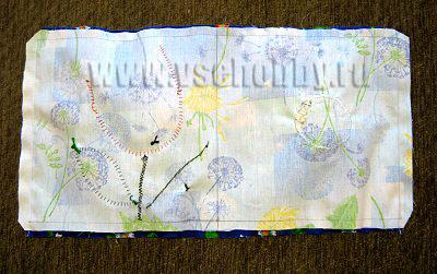 сшиваем заготовки для мягких страничек развивающей книжки ручной работы для малыша