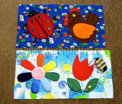 заготовки для мягких страничек развивающей книжки ручной работы для малыша